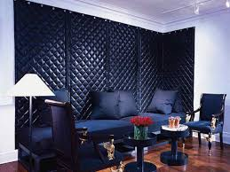 wonderful acoustic curtain sound dampening curtains navy blue