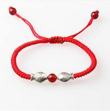 red rope bracelet images 10 pcs kabbalah lucky red rope bracelet bangle silver kiss fish jpg