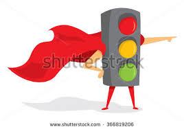 Traffic Light Clipart Traffic Light On Road Running Red Stock Vector 671369479