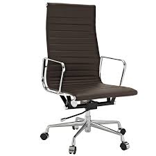 broken leather adjustable conference chair with arms and