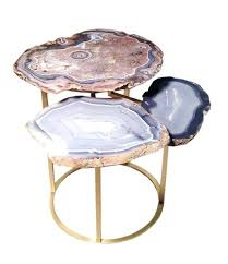 faux agate side table faux agate side table interior agate coffee table modern geode slice