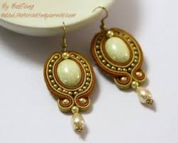 soutache earrings golden soutache earrings allfreejewelrymaking