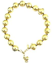 long gold ball necklace images Chanel gold 13848 rare cc bead ball chain choker necklace tradesy jpg