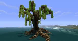 minecraft god trees tutorial draping tree