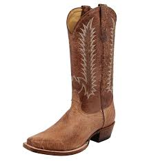 men u0027s square toe smooth ostrich boot tan vintage