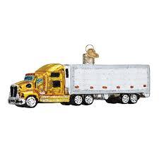 Semi Ornaments World Ornaments Semi Truck 46070
