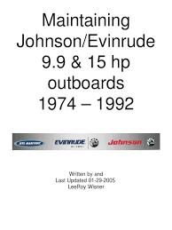 evinrude 20 25 u0026 35 service manuel original carburetor