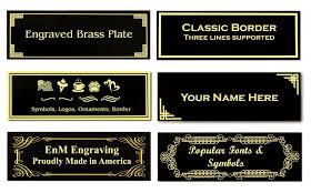 0 875 h x 2 5 w glossy black brass plates solid