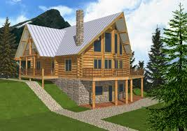 Cabin Blueprints Free Lake House Plans With Drive Under Garage