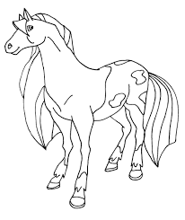 16 coloring pages of horseland print color craft