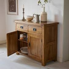 Oak Furniture Uk Original Rustic Solid Oak Small Sideboard Oak Furniture Land