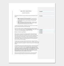 Monthly It Report Template For Management by Financial Report Template Word Excel Pdf Monthly Annual