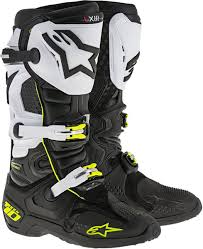 motocross boots size 11 amazon com alpinestars men u0027s tech 10 boots black white yellow