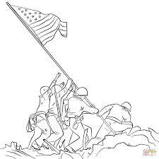 American Flag To Color Veterans Day Pictures To Color 6575