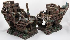 aquarium decoration ship wreck artificial craft aquarium ornament