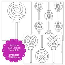 printable swirl lollipop template children