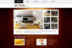 home interior website free website template in clean style for interior project