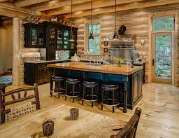 rustic kitchen cabinets with glass doors wilderness softened rustic kitchen other by b c d