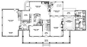 plantation homes floor plans louisiana plantation style house plan 1 5 4 bedroom 3 5