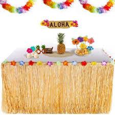 birthday decorations supplies luau hawaiian tropical grass