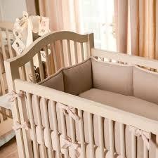 light pink linen crib bumper carousel designs