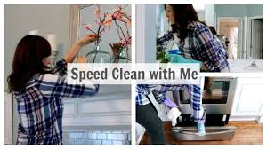 speed clean with me power hour house cleaning monday