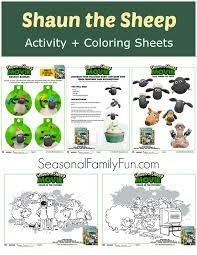 sheep activity coloring sheets