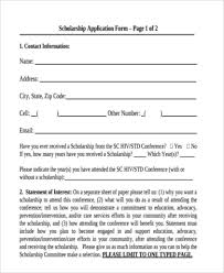 sample scholarship application scholarship application acceptance