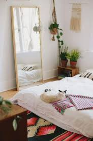 decor and floor floor mirror and plants bed on floor plant