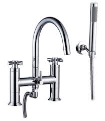 Tub Faucet With Handheld Shower Amazing Antique Brass Finish Tub Faucet With Hand Shower F 007
