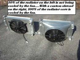 electric radiator fans and shrouds mahaffey motorsports custom fabricated fan shrouds