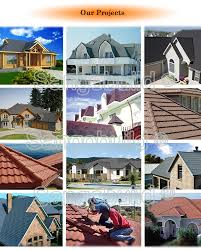 Roof Tiles Types Aluminum Zinc Bent Tiles Types 0 4mm Color Stone Coated Japanese