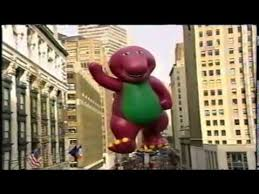 barney in the 1996 macy s thanksgiving day parade