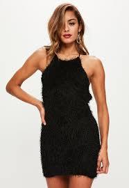 90s dress black fringe 90s neck mini dress missguided ireland