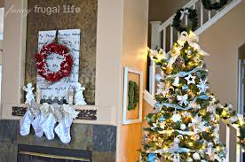 ribbon christmas card tree display how i display christmas cards