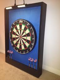 black dart board cabinet lighted carolina blue black trim dart board cabinet w led cordless