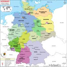 geographical map of germany political map of germany germany states map