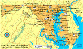 maryland map map of maryland travel