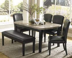 standard furniture bella 7 piece dining room set w faux steve