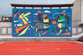 nike wall mural on behance ideas for a new nike wall mural to be placed within an outdoor basketball court in barcelona the imagery would also be used as stand alone print