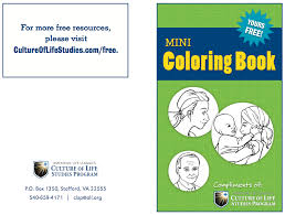 mini coloring book now available mini coloring book sample culture of life studies