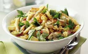 bacon and corn pasta salad with mustard dressing recipe food to love