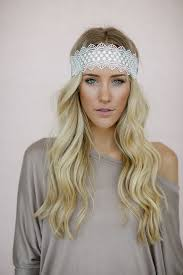 lace headbands scallop crochet lace headband hair accessories white stretchy