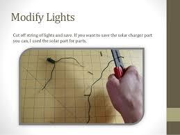 how to make self charging christmas lights