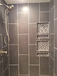 Bathroom Porcelain Tile Ideas by Best 25 Vertical Shower Tile Ideas On Pinterest Large Tile