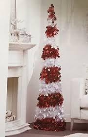5 ft collapsible tinsel tree pop up slim decorative tree ebay