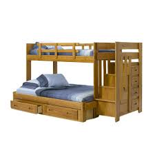 Amazoncom Chelsea Home Furniture WS Twin Over Full Bunk - Twin over full bunk bed with slide