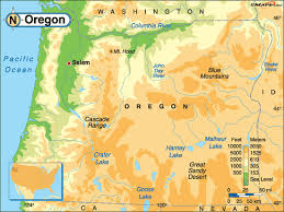 map of oregon mountains oregon map and oregon satellite images