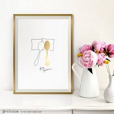 wedding gift gold wedding gift gold foil print engagement gift let s spoon