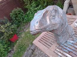 sculpture velociraptor bust prehistoric s statue